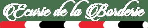 Logo blanc Ecurie de la Borderie